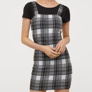 H&M Plaid Checkered Petite Bodycon Mini Dress XXS